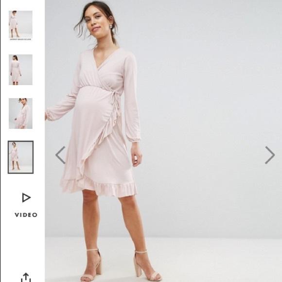 31290a21e1f Final 😻NWT ASOS maternity ruffle nude dress 6